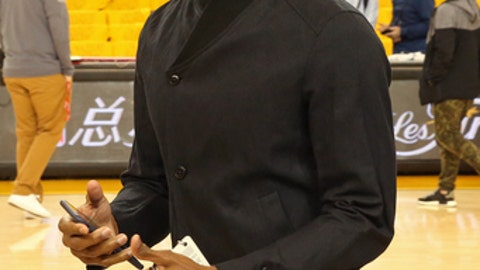 OAKLAND, CA - JUNE 12:  Rajon Rondo #9 of the Chicago Bulls attends Game Five of the 2017 NBA Finals between the Cleveland Cavaliers and the Golden State Warriors on June 12, 2017 at Oracle Arena in Oakland, California. NOTE TO USER: User expressly acknowledges and agrees that, by downloading and or using this photograph, user is consenting to the terms and conditions of Getty Images License Agreement. Mandatory Copyright Notice: Copyright 2017 NBAE (Photo by Bruce Yeung/NBAE via Getty Images)