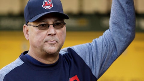 Cleveland Indians manager Terry Francona waits in the dugout prior to the team's baseball game against the Oakland Athletics on Friday, July 14, 2017, in Oakland, Calif. Francona rejoined his team one week after undergoing a minor procedure for an irregular heartbeat. The 58-year-old Francona was supposed to manage the American League during Tuesday's All-Star Game but opted out after undergoing a cardiac ablation procedure at the Cleveland Clinic on July 6. (AP Photo/Ben Margot)
