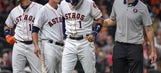 Houston All-Star Correa leaves game with thumb injury