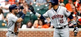 Astros end Orioles' 4-game winning streak with 8-7 victory