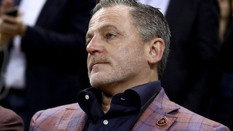 OAKLAND, CA - JUNE 01:  Cleveland Cavaliers owner Dan Gilbert looks on during Game 1 of the 2017 NBA Finals at ORACLE Arena on June 1, 2017 in Oakland, California. NOTE TO USER: User expressly acknowledges and agrees that, by downloading and or using this photograph, User is consenting to the terms and conditions of the Getty Images License Agreement.  (Photo by Ezra Shaw/Getty Images)
