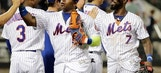 Conforto hits 2 HRs, Blevins helps Mets hold off A's 7-5