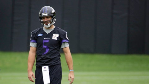 Joe Flacco experiencing sore back before 1st training camp practice of 2017