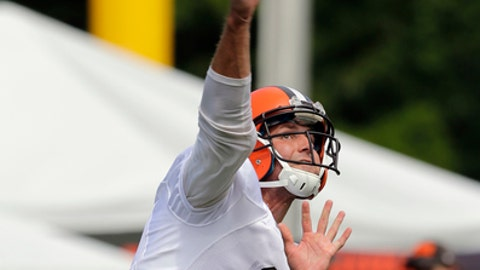 Cleveland Browns quarterback Cody Kessler throws during practice at the NFL football team's training camp facility, Thursday, July 27, 2017, in Berea, Ohio. (AP Photo/Tony Dejak)