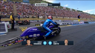 Eddie Krawiec Wins Pro Stock Motorcycle Final at Denver | 2017 NHRA DRAG RACING