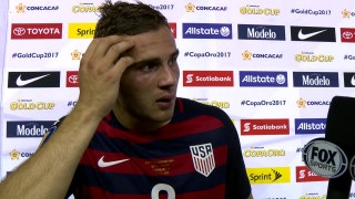 Jordan Morris reacts after scoring emotional game-winning goal | 2017 CONCACAF Gold Cup