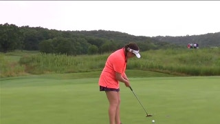 Taylor Roberts defeats Haley Moore in the round of 16 at the U.S. Girls' Junior | USGA ON FOX