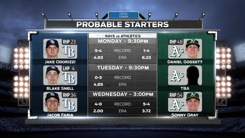 Rays continue road trip with showdown against new-look A's
