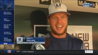 Brewers' Phillips describes first career MLB homer