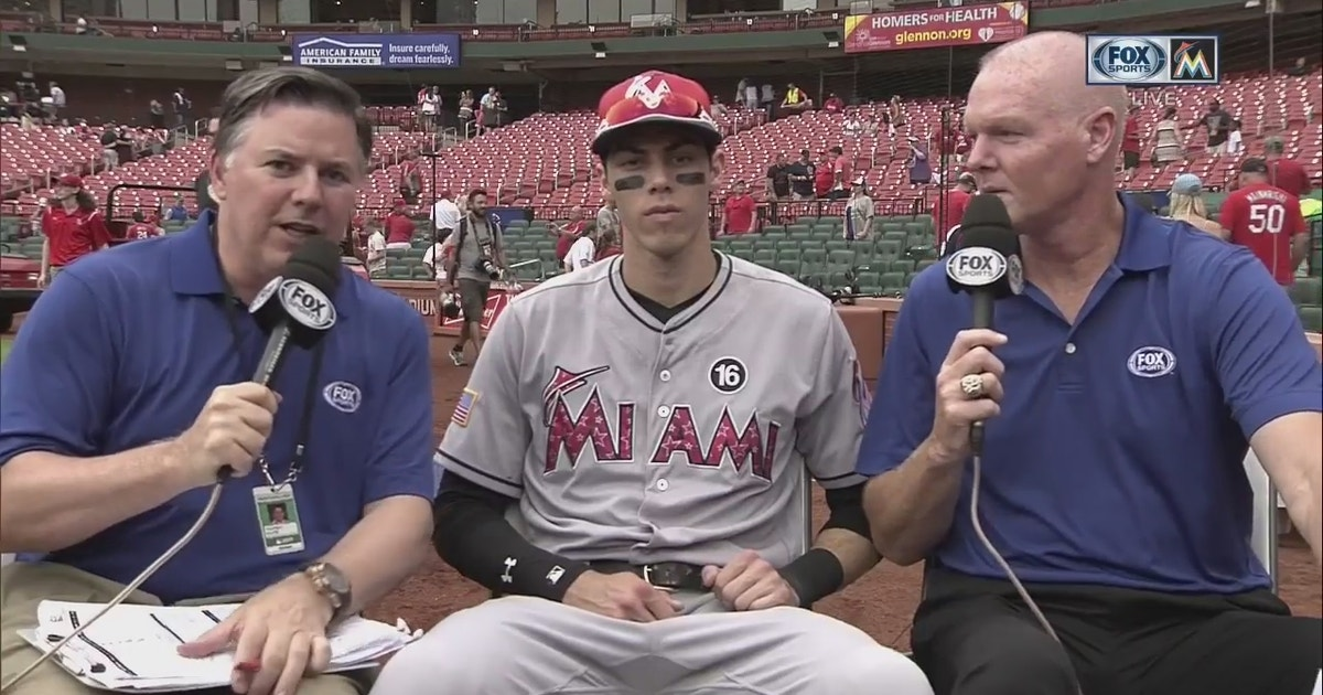 Christian Yelich on bouncing back: 'Today we played a solid game' | FOX Sports