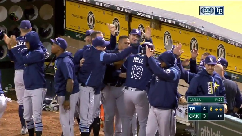 HIGHLIGHTS: Rays' 9th inning rally to snatch W from Athletics