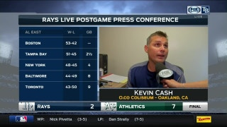 Kevin Cash: The objective is to win series, and we won another series