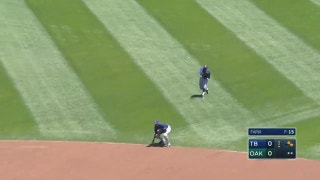 WATCH: Rays execute a perfect relay to get an out at home