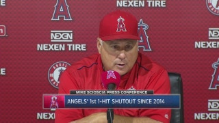 Scioscia likes the rhythm his young players are finding after 7-0 win over Nationals