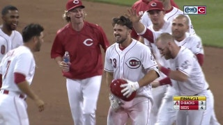 WATCH: Duvall doused by teammates after walk-off hit
