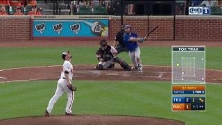 WATCH: Mike Napoli hits 3-run home run in 5th vs. Baltimore