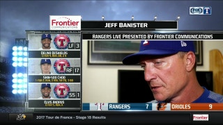 Jeff Banister on coming up short in loss to Baltimore