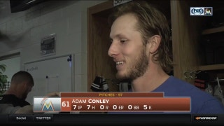 Adam Conley most excited about not issuing any walks Monday