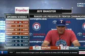 Images of Jeff Banister on Joey Gallo's night, win over Marlins