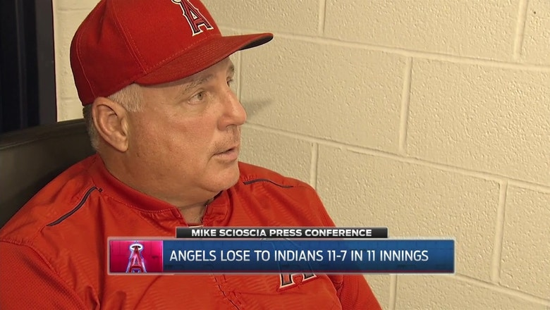 Angels erase 7-run deficit but fall in extras to the Indians