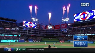 WATCH: Beltre adds homer, two doubles for 2,996 career hits