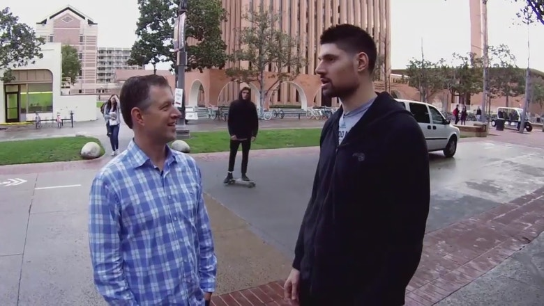 Join Nikola Vucevic for a tour of USC