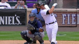 Watch the Rockies' Nolan Arenado go yard three times against the Padres