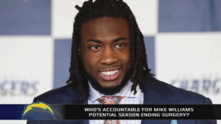 Did Mike Williams hide his back injury from the Chargers?