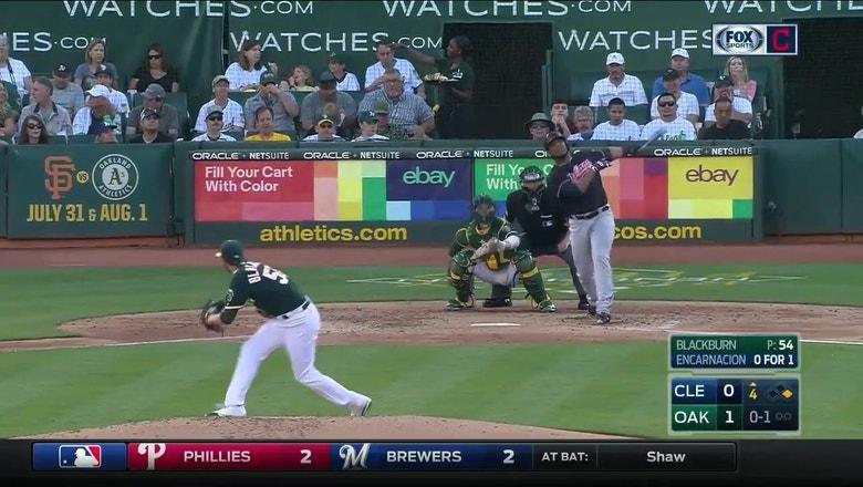 Edwin Encarnacion's Home Run vs the A's