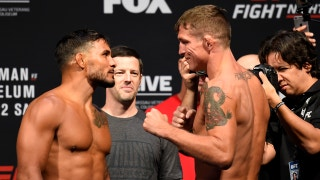 Dennis Bermudez vs. Darren Elkins face off at UFC Fight Night weigh-in