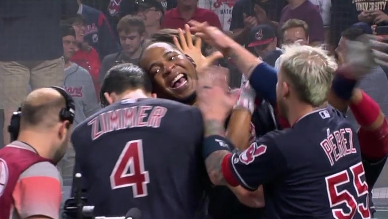 Indians' Bradley Zimmer hits his 1st career grand slam, Edwin Encarnacion blasts a walk-off slam