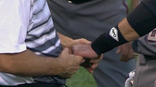 J.D. Martinez injures his hand in his Diamondbacks debut