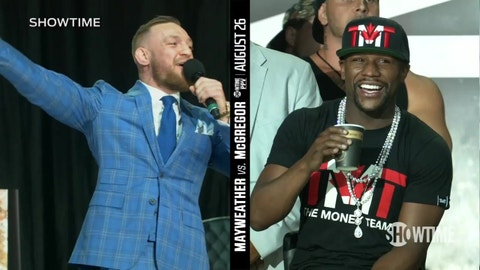 VIDEO: Conor McGregor on Floyd Mayweather's backpack: 'You can't even read'