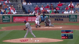 Watch the Nationals smash 4 home runs in a row -- and 5 total -- in the 3rd inning vs. Brewers