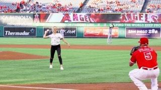 Angels Weekly: Nastia Liukin first pitch