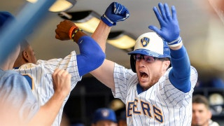 WATCH: Brewers' Brett Phillips hits first career homer