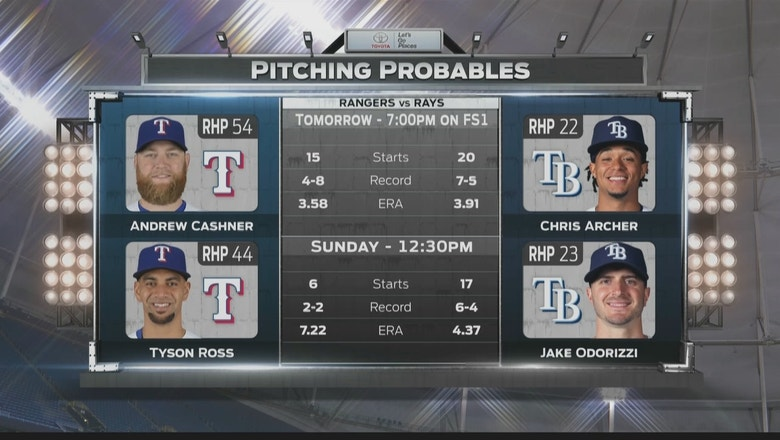 Rays look to bounce back against Rangers