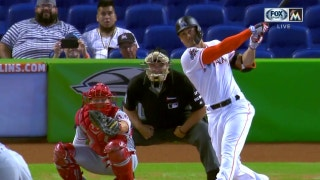 Watch Giancarlo Stanton tie Aaron Judge after hitting his 30th home run of the season