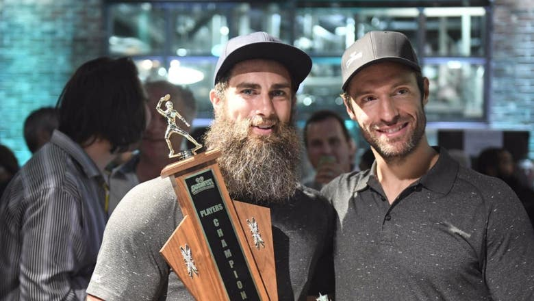 Smashfest VI: Ducks' Patrick Eaves reigns over charity ping-pong event for the third year in a row