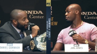 Things got heated between Jon Jones and Daniel Cormier at the UFC 214 press conference