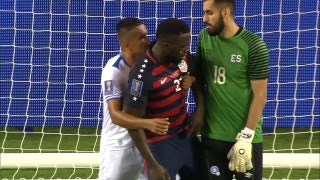 Watch El Salvador's dirty play against USA's Jozy Altidore in Gold Cup elimination game