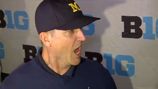 Watch Jim Harbaugh holler at reporters during Big Ten media day | FOX College Football