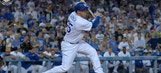 Watch Kyle Farmer's walk-off double in his first MLB at-bat to give the Dodgers an 8th straight win
