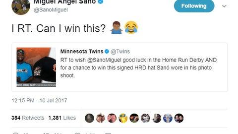 Miguel Sano, Twins third baseman