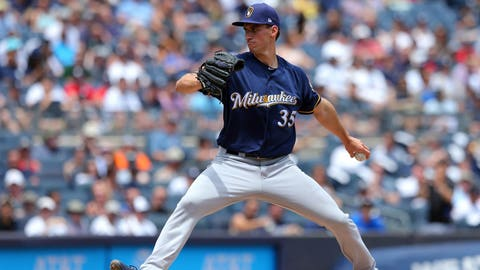 Brent Suter, Brewers pitcher (↓ DOWN)