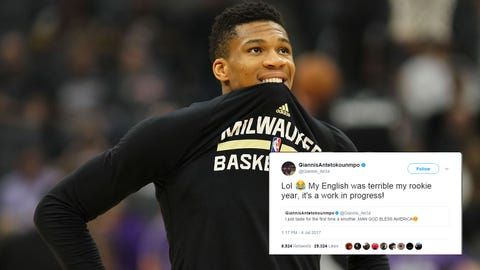 Giannis Antetokounmpo (⬆ UP)