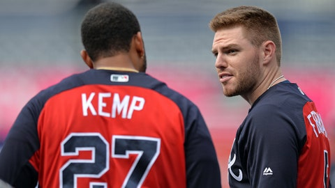 3. Freddie Freeman took an actual grounder at third ... and it looked good. Different, but good