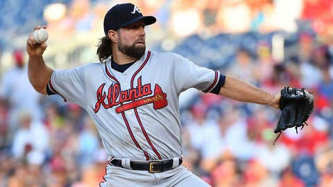Braves starting pitcher R.A. Dickey (6-5, 4.23 ERA)