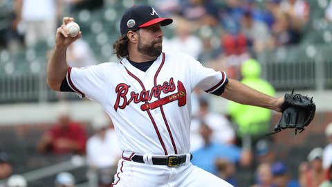 Braves starting pitcher R.A. Dickey (6-6, 4.14 ERA)