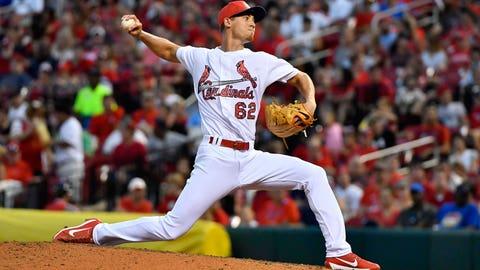 Cardinals starting pitcher Luke Weaver (0-0, 0.00 ERA)